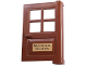 Part No: 3861pb01  Name: Door 1 x 4 x 5 with 4 Panes and 'Maximum Security' Pattern (Sticker) - Set 7785