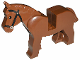 Part No: 4493c01pb05  Name: Horse with Black Eyes, Silver Pupils and Black Bridle Pattern
