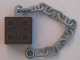 Part No: 54980c01  Name: Duplo, Brick 2 x 2 with Light Bluish Gray Boat Anchor Chain 10L
