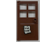 Part No: 60623pb06  Name: Door 1 x 4 x 6 with 4 Panes and Stud Handle with 'GONE FISHIN'' Pattern (Sticker) - Set 21310