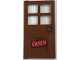 Part No: 60623pb07  Name: Door 1 x 4 x 6 with 4 Panes and Stud Handle with 'OPEN' Pattern (Sticker) - Set 21310