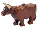 Part No: 64452pb01c01  Name: Cow with Pink Muzzle and White Spot on Head Pattern, Complete Assembly (Plate on Top)