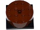 Part No: 87081c01  Name: Turntable 4 x 4 x 1 1/3 Top with Black Square Base, Locking (87081 / 61485)