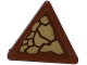 Part No: 892pb026R  Name: Road Sign Clip-on 2 x 2 Triangle with Dark Tan Scales Pattern Model Right Side (Sticker) - Set 70599