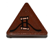 Part No: 892pb027  Name: Road Sign Clip-on 2 x 2 Triangle with Copper Handles Pattern (Sticker) - Set 70602