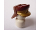 Part No: 92762pb01  Name: Minifigure, Headgear Hat, Neck Protector, SW Dark Red Top and Gold Flap Pattern
