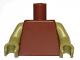 Part No: 973c58  Name: Torso Plain / Olive Green Arms / Olive Green Hands