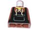 Part No: 973pb0538  Name: Torso Castle Fantasy Era Blacksmith Apron and Front Lace Up Shirt Pattern