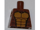 Part No: 973pb1026  Name: Torso Bare Chest with Muscles Outline and Black Hair Pattern