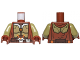 Part No: 973pb1533c01  Name: Torso SW Armor and Robe Jedi Knight Pattern / Olive Green Arms / Reddish Brown Hands