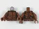 Part No: 973pb3059c01  Name: Torso Reddish Brown Bark Plates and Dark Green Underneath Pattern / Reddish Brown Arms / Reddish Brown Hands