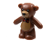 Part No: 98382pb002  Name: Teddy Bear with Black Eyes, Nose and Mouth, Medium Dark Flesh Stomach and Muzzle and Red Bow Tie Pattern