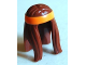 Part No: 99248pb01  Name: Minifig, Hair Long with Orange Headband Pattern