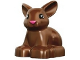 Part No: dupbunnypb01  Name: Duplo Bunny / Rabbit Head Turned Left with Black Eyes and Pink Nose Pattern