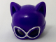 Part No: 27326pb01  Name: Minifigure, Headgear Mask Catwoman with Silver Goggles Pattern