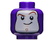 Part No: 3626cpb2382  Name: Minifigure, Head Balaclava with Face Hole, Dark Brown Curved Eyebrows, Chin Dimple, Closed Mouth Smile Pattern (Buzz Lightyear) - Hollow Stud