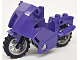 Part No: 52035c02  Name: Motorcycle City, Complete Assembly with Black Chassis (Long Fairing Mounts) and Light Bluish Gray Wheels
