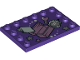 Part No: 6180pb116  Name: Tile, Modified 4 x 6 with Studs on Edges with Treasure Chest, Space Helmet, and Book Pattern