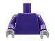 Part No: 973c49  Name: Torso Plain / Dark Purple Arms / Dark Bluish Gray Hands
