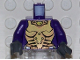 Part No: 973pb0422c01  Name: Torso Exo-Force Gold Body Armor with Amulet Pattern / Dark Purple Arms / Dark Bluish Gray Hands