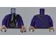 Part No: 973pb0943c01  Name: Torso Harry Potter Bus Driver Jacket and Black Tie Pattern / Dark Purple Arms / Light Flesh Hands