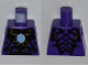 Part No: 973pb1248  Name: Torso Ninjago Snake with Light Blue Gem and Black and Gold Scales Pattern (Pythor)
