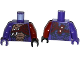 Part No: 973pb1980c01  Name: Torso Ninjago Snake with Black and Copper Scales, Knives and Shoulder Pad Pattern / Dark Red Arm and Black Hand Left / Dark Purple Arm and Hand Right