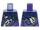 Part No: 973pb2083  Name: Torso Ninjago Tattered Dark Blue and Yellowish Green Robe Pattern