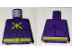 Part No: 973pb2410  Name: Torso Batman Muscles Outline with Yellow Killer Moth Logo and Belt Pattern