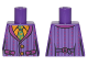 Part No: 973pb2638  Name: Torso Batman Striped Vest and Green Tie Pattern