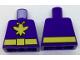 Part No: 973pb2678  Name: Torso Batman Yellow Killer Moth Logo and Belt Pattern
