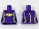 Part No: 973pb2943  Name: Torso Female Wetsuit, Flat Silver Sides, Yellow Bat Pattern