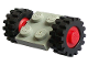 Part No: 122c01assy2  Name: Plate, Modified 2 x 2 with Wheels Red, with Black Tires Offset Tread Small (122c01 / 3641)