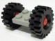 Part No: 122c01assy3  Name: Plate, Modified 2 x 2 with Wheels Red, with Black Tires Offset Tread Medium (122c01/ 4084)
