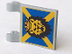 Part No: 2335px10  Name: Flag 2 x 2 Square with Lion Head on Blue and Yellow 'X' Pattern