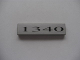 Part No: 2431pb067  Name: Tile 1 x 4 with '1340' Pattern (Sticker) - Set 10022/10025