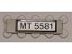 Part No: 2431pb073  Name: Tile 1 x 4 with Black 'MT 5581' on White Pattern (Sticker) - Set 5581