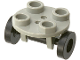 Part No: 2655c02  Name: Plate, Round 2 x 2 Thin with Wheel Holder and Black Trolley Wheels (2655 / 2496)