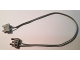 Part No: 2776c28  Name: Electric, Wire 12V / 4.5V with 2 Leads, 28 Studs (22cm) Long with 2 Light Gray Electric, Connector, 2-Way Male Squared Narrow Short