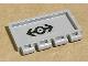 Part No: 2873pb10  Name: Hinge Train Gate 2 x 4 with Train Logo Black Medium Pattern (Sticker) - Set 4549