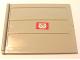 Part No: 2874pb03c  Name: Door Sliding - Type 2 with Mail Envelope Pattern Model Left Inner (Sticker) - Set 4564