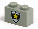 Part No: 3004pb008  Name: Brick 1 x 2 with Police Yellow Star Badge Pattern