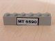Part No: 3009pb066  Name: Brick 1 x 6 with Black 'MT 5590' Pattern (Sticker) - Set 5590