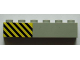 Part No: 3009pb193L  Name: Brick 1 x 6 with Black and Yellow Danger Stripes Pattern Left (Sticker) - Set 7823