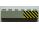 Part No: 3009pb193R  Name: Brick 1 x 6 with Black and Yellow Danger Stripes Pattern Right (Sticker) - Set 7823