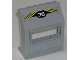 Part No: 30288pb04  Name: Panel 3 x 6 x 6 Sloped with Window with '76' and Yellow Stripes Pattern (Sticker) - Set 6575