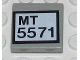 Part No: 3068bpb0287  Name: Tile 2 x 2 with Groove with 'MT 5571' Pattern (Sticker) - Set 5571