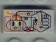 Part No: 3069bpx25  Name: Tile 1 x 2 with Silver, Orange, Yellow, Black Circuitry Pattern