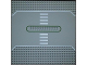 Part No: 309px2  Name: Baseplate, Road 32 x 32 Service Station with White & Green Lines and Crosswalk Pattern