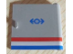 Part No: 3194px1  Name: Door 1 x 5 x 4 Right with Red/White/Blue Stripe and Train Logo Pattern